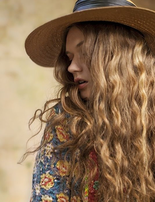 Mermaid-Hair-with-Hat-eye-catching-boho-hairstyle-2015-summer